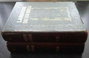 Larousse de La Siglo Xx P. Ojo VOL4 + 5 Impresión+Folios+Tablas 1932 París ABE