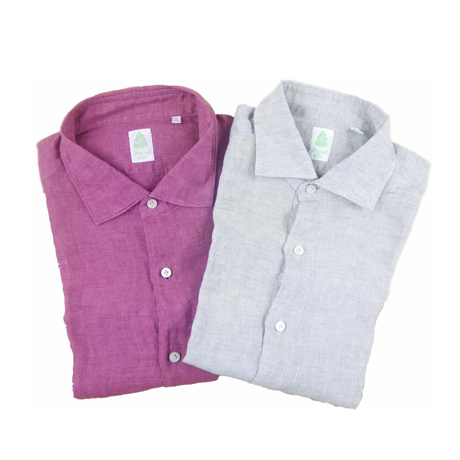 Finamore Linen Shirt Men's Various Colours (Previously