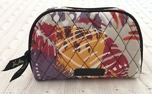 22da180ec378 Vera Bradley Small Zip Cosmetic Bag Painted Feathers Travel NWT MSRP ...