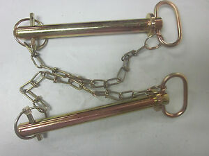 ~25 ~ TRACTOR TRAILER 3//8 X 4-1//2 HITCH PIN CHAIN CLIP LYNCH RECEIVER TOW LOCK
