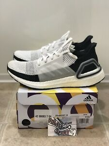 New-Adidas-Ultra-Boost-19-Running-Shoes-White-Black-Panda-B37707-Yeezy-Mens-Size