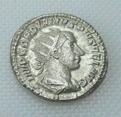 Competent Collectable Roman 241-243ad Silver Based Antoninianus Of Gordian Iii High Quality Roman
