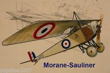 "Model Airplane Plans (RC or FF): MORANE-SAULNIER Semi-Scale 34"" for .5-.75cc"