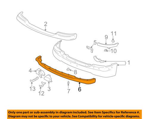 GM OEM Front Bumper-Spoiler Lip Chin Splitter 88980801