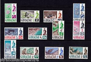 Gibraltar - 1960-62 Short Set to 5/- - U/M - SG 160-71