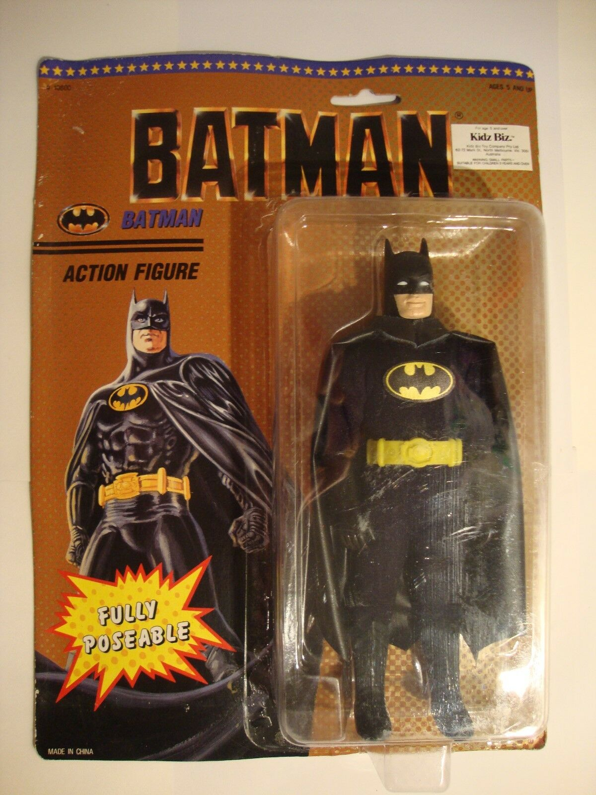 Batman 1989 Movie fully poseable 8  action figure.