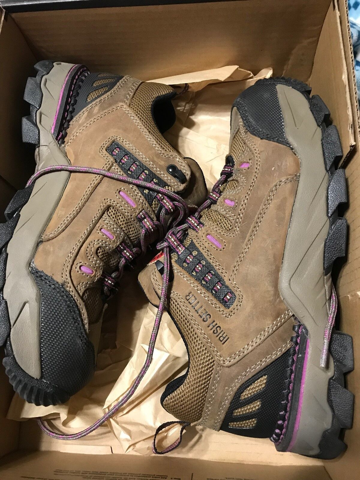 Red wing shoes shoes shoes 9.5 Ladies Brown with Purple on the shoe and laces, Aluminum Toe f566d0