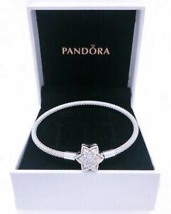 Details about Authentic PANDORA Shine Bright Snowflake Charm Bracelet 925  Silver 598616C01