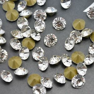 Crystal-Clear-Rhinestones-Point-back-Glass-Chatons-Strass-Glass-Facet-Stones-U1