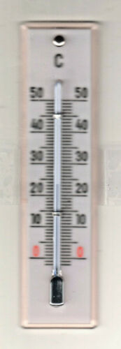 GERMAN BRAND Facet 10 cm Top 1950er Glass Room Thermometer Pink//White