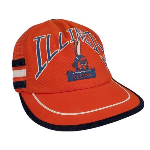 Vintage Illinois Illini Snapback Mesh Trucker Hat