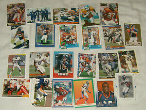 Lot-of-25-Denver-Broncos-Football-Trading-Cards-assorted-players-amp-years