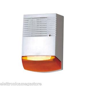 Sirena antifurto autoalimentata per esterno 120db led sempre lampeggianti sal130 ebay - Antifurto per esterno ...