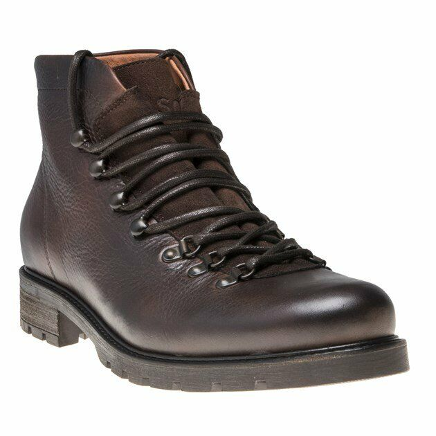 New Mens SOLE braun Herbie Leather Stiefel Lace Up