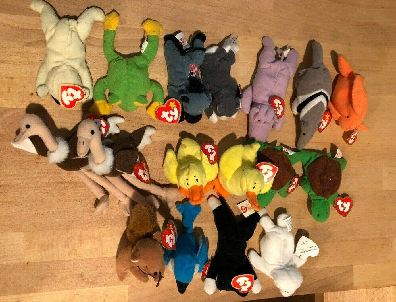 NEW 1996-1999 1996-1999 1996-1999 Teenie Beanie Babies set of 17 55e760