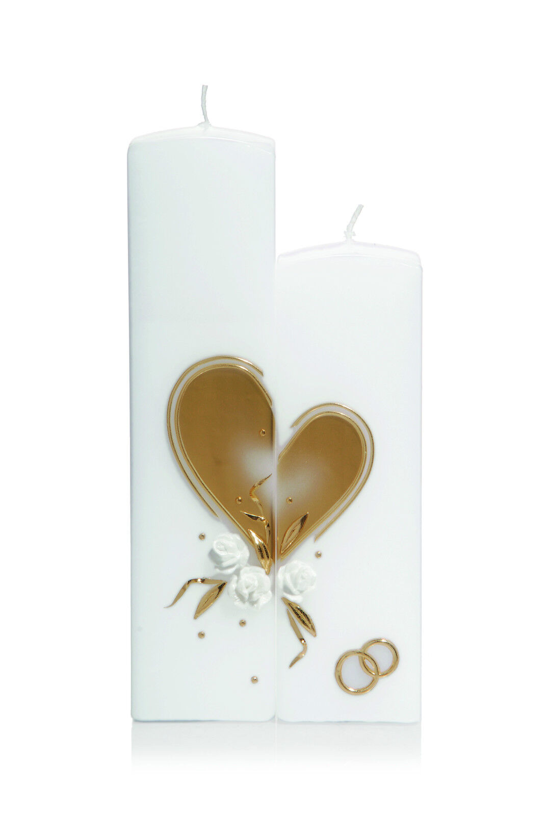 mariage Candle 250x60mm 2 Burner With or Heart + sacues Candle WiedehomHommes
