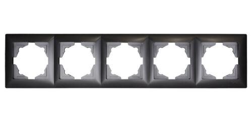 Gunsan Visage 5-fach Rahmen für 5 Steckdose Schalter Dimmer Dunkelsilber