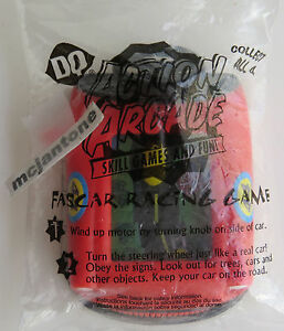 MIP-Dairy-Queen-2002-DQ-Action-Arcade-RED-FASCAR-RACING-GAME-Car-Race-SEALED