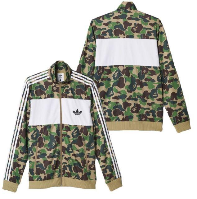 Adidas x A Bathing Ape Bape Men's Firebird Jacket Green Camo BK4569 Medium