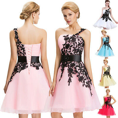 SEXY LACE Short Prom Dresses Bridesmaid Cocktail Evening Dress MINI GRAD Dress