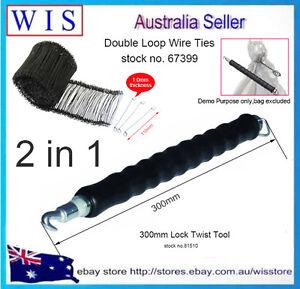 Pull-Tie-Wire-Twister-Bag-Tie-Puller-Double-Loop-Tie-Tool-w-2000xLoop-Tie-Wires