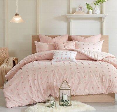 Pink Jacquard Twin Queen Cal King 7pc Comforter Set