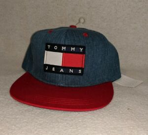 6a49cd1d38bb5 NWT Tommy Hilfiger Jeans Patch Denim Snapback Hat Urban Outfitters ...