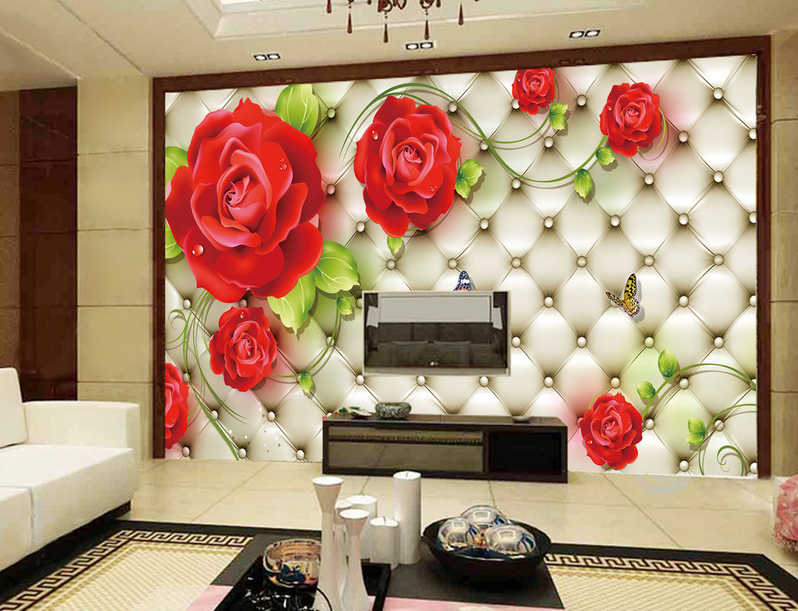 3D ROT Petals 488 Wallpaper Murals Wall Print Wallpaper Mural AJ WALL UK Lemon