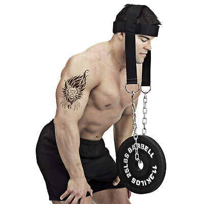 WEIGHT LIFTING GYM BACK PULL UP CHAIN DIPPING BELT DIP HEAD HARNESS NECK STRENGT