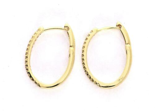 Hoops Boucles d/'oreilles diamant naturel I1 G 0.25 Ct Pave Setting 14K OR MASSIF 2.90 mm