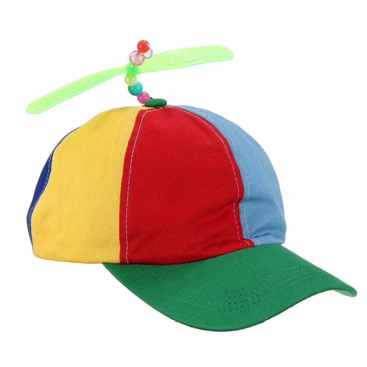 Propeller Hat Helicopter Cap Clown Jester Tweedle Dee Costume Colorful