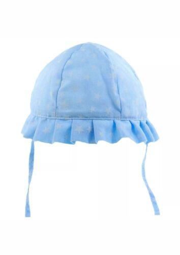 Baby Girls Sun Hat Summer Blue Stars Anglaise Size 0//6 6//12 12//24 Months