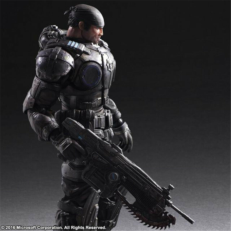 SQUARE ENIX PA KAI KAI KAI Marcus Fenix Action Figure Gears Of Wars Collectibles New b8f921