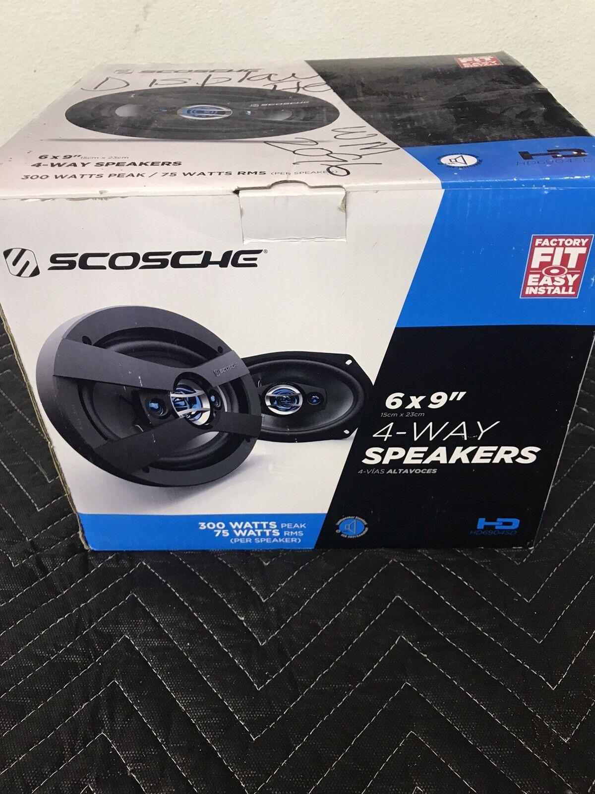 4 Set SCOSCHE HD4004 HD Speakers