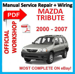 official workshop manual service repair for mazda tribute 2000 rh ebay co uk owners manual 2006 mazda tribute owners manual mazda tribute 2001