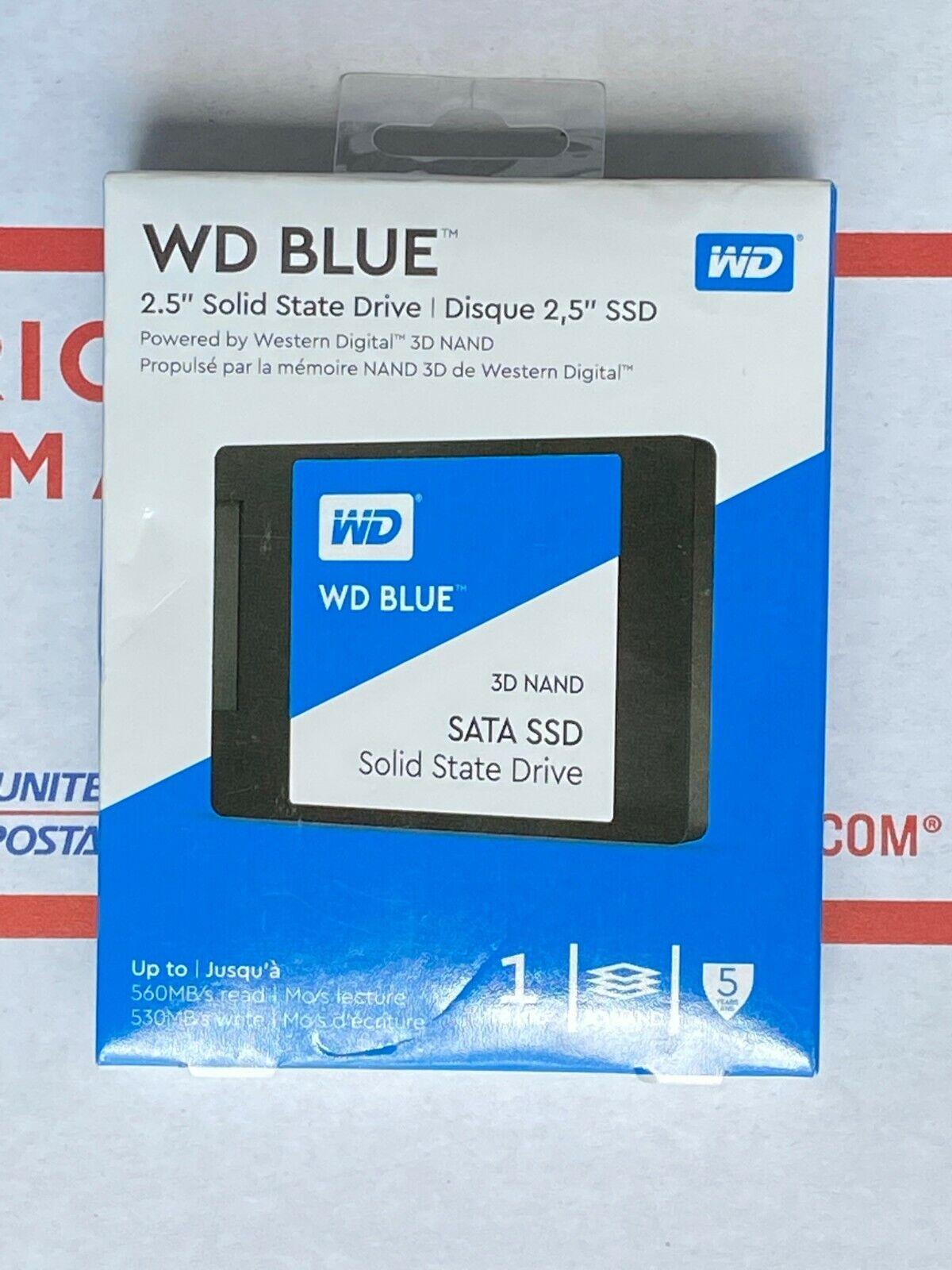 WD Blue 3D NAND 1TB Internal SATA SSD 6Gb/s 2.5