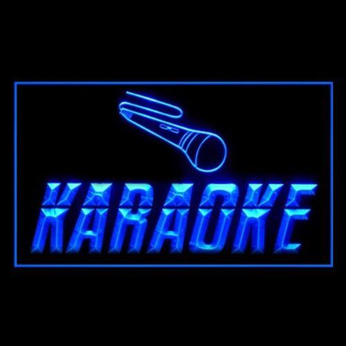 140004 Karaoke Box Caf Microphone Hot Cheering Fun Solo Bar Pub LED Light Sign