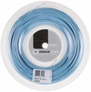 DéVoué (0,47 €/m) Luxilon Adrenaline Ice Blue 125 200 M Rrp € 140 Tennis Cordes-afficher Le Titre D'origine Performance Fiable