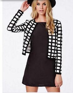 nuovo concetto f3530 69e23 Dettagli su giacca giacchino giubbino donna corto estivo bianco e nero cod  1007