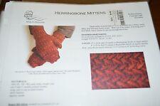 Kira Designs Knitting Pattern Herringbone Mittens