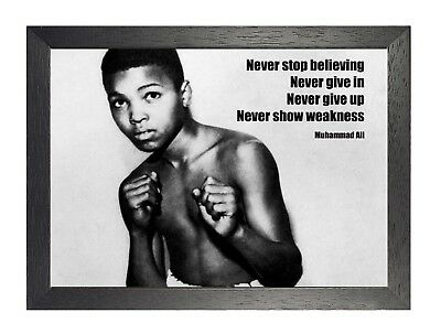Muhammad Ali 10 American Boxer Black White Photo Motivation Sport Quote Poster
