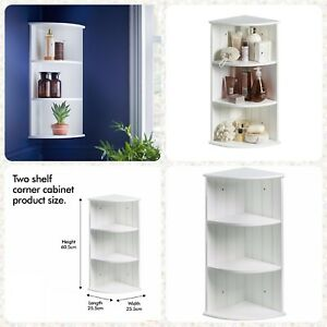 Details about Three Shelf Toilet Restroom Bathroom Corner Cabinet Unit Wall  Hanging / Floor