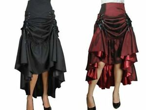 New-Gothic-Burlesque-Steampunk-Vintage-Gypsy-Maiden-Vamp-Lolita-Skirt-N57-UK
