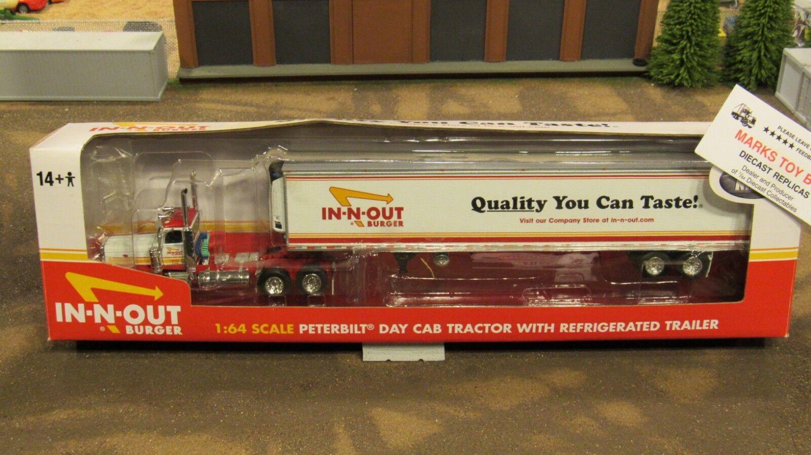 barato en línea DCP  32752 32752 32752 In-N-Out Burger Pete 379 Semi día CAB camioneta Reefer Remolque 1 64 cl  buen precio