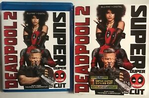 MARVEL-DEADPOOL-2-SUPER-DUPER-CUT-BLU-RAY-2-DISC-SET-SLIPCOVER-SLEEVE-FREE-SHIP