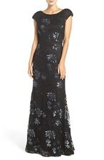 BNWT RRP£250 VERA WANG Stunning Sequined Lace Gown Evening dress Black UK4 EUR32