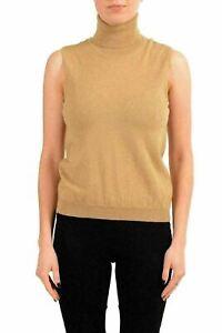 Maison-Margiela-4-Women-039-s-100-Wool-Beige-Turtleneck-Sleeveless-Top-US-M-IT-42
