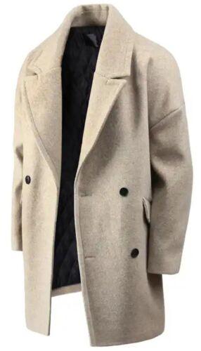 Herren Neue Mode Double überleg Jacke Jumper Mantel Pullover Blazer Coat Top K26