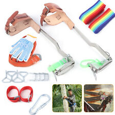New Listingstainless Steel Tree Climbing Spike Set Safety Belt Gear 440lb With Pair Gloves