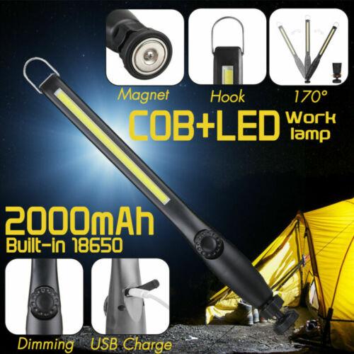 Multi Function USB Rechargable Magnetic Slim Folding LED Work Light Flashlight